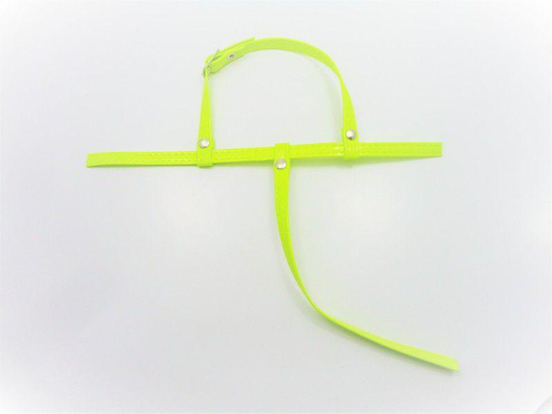 Cabedal rasteirinhas  tiras 9 mm fluorescente amarelo