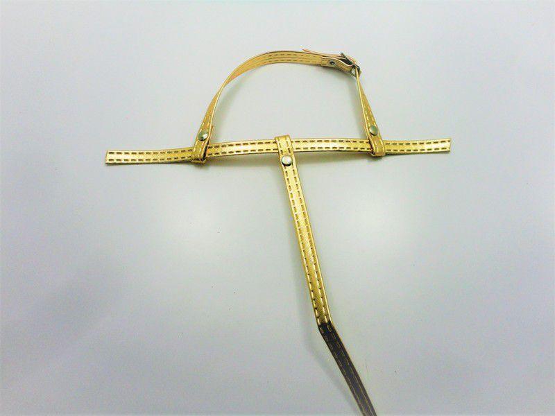 Cabedal rasteirinhas tiras 9 mm ouro