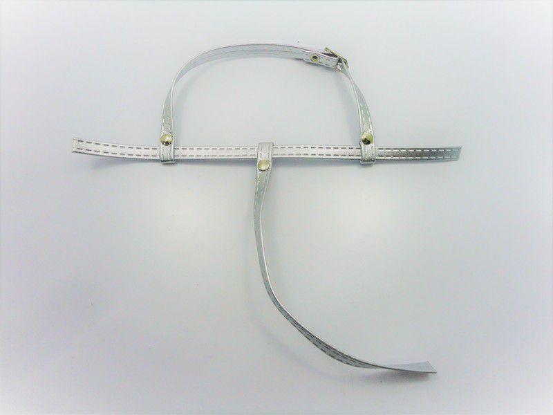 Cabedal rasteirinhas  tiras 9 mm prata