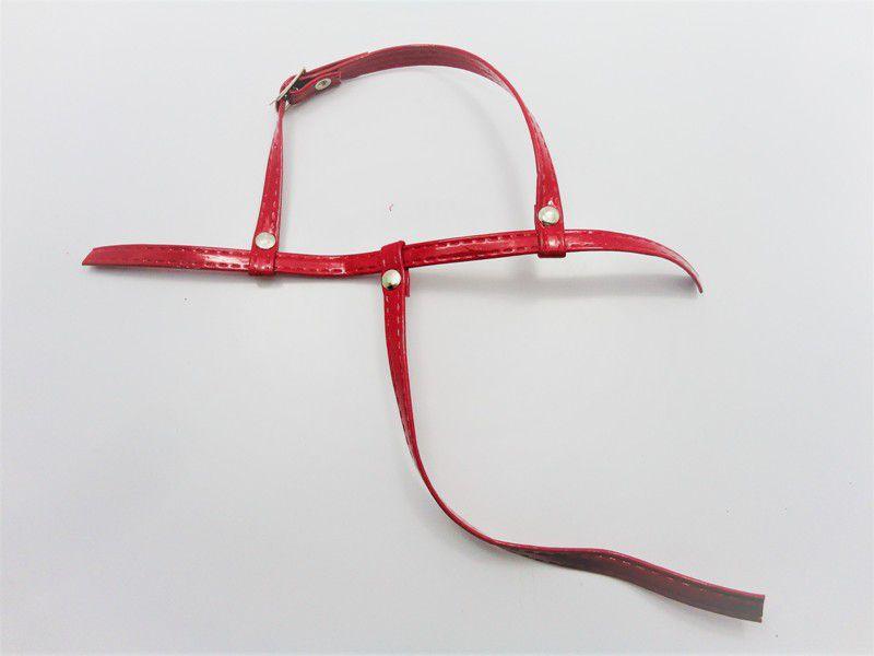 Cabedal rasteirinhas tiras 9 mm vermelho