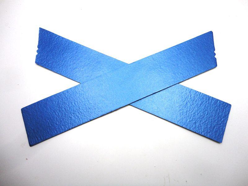 Cabedal rasteirinha X metalizado azul