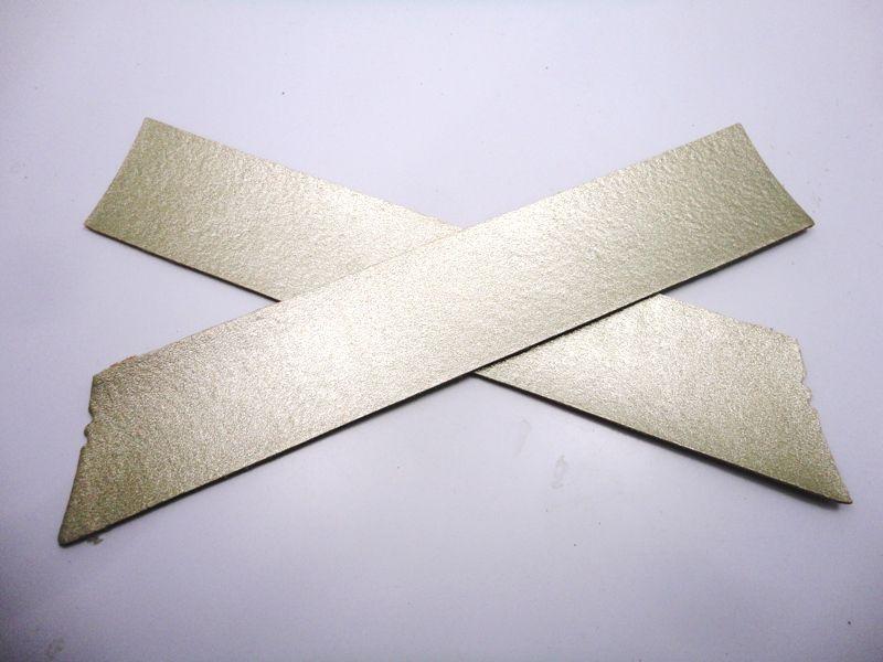 Cabedal rasteirinha X metalizado dourado