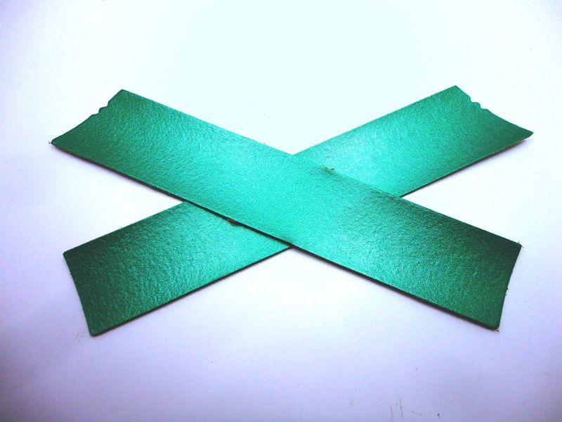 Cabedal rasteirinha X metalizado verde
