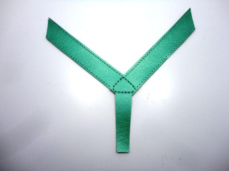 Cabedal rasteirinhas dedo - metalizado verde