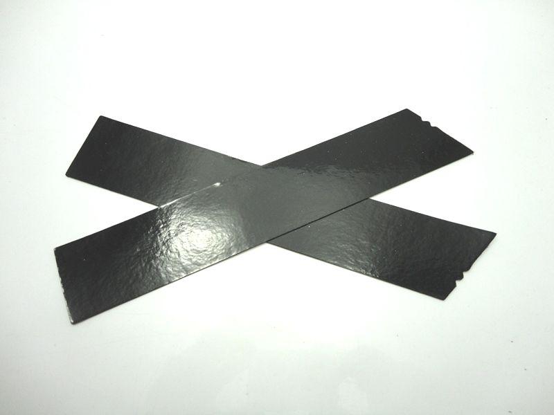 Cabedal rasteirinha X preto
