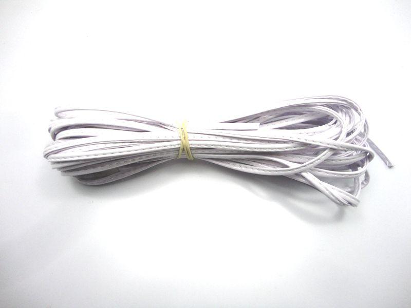 Cordão 4 mm Branco - Rolo 10 metros