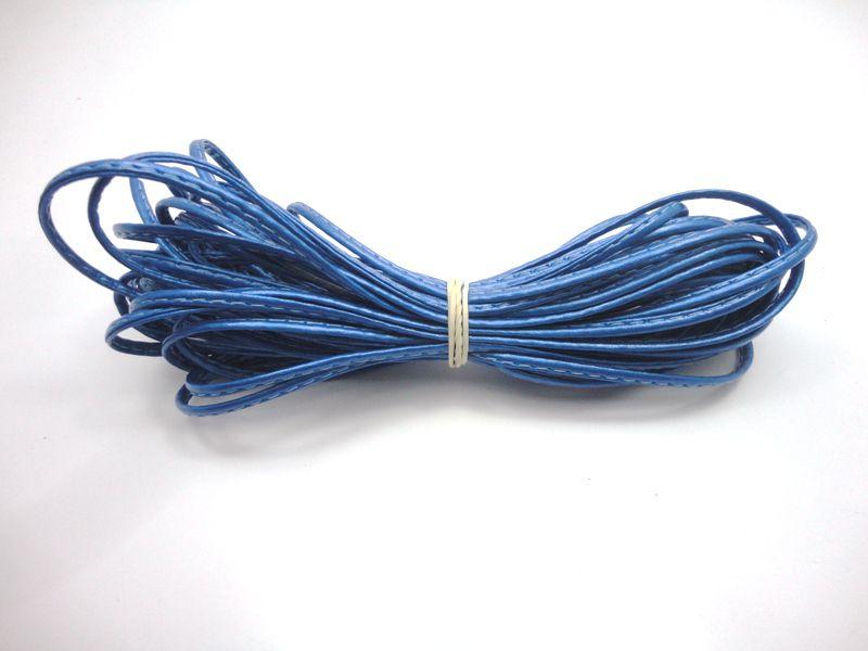 Cordão 4 mm Metalizado Azul - Rolo 10 metros