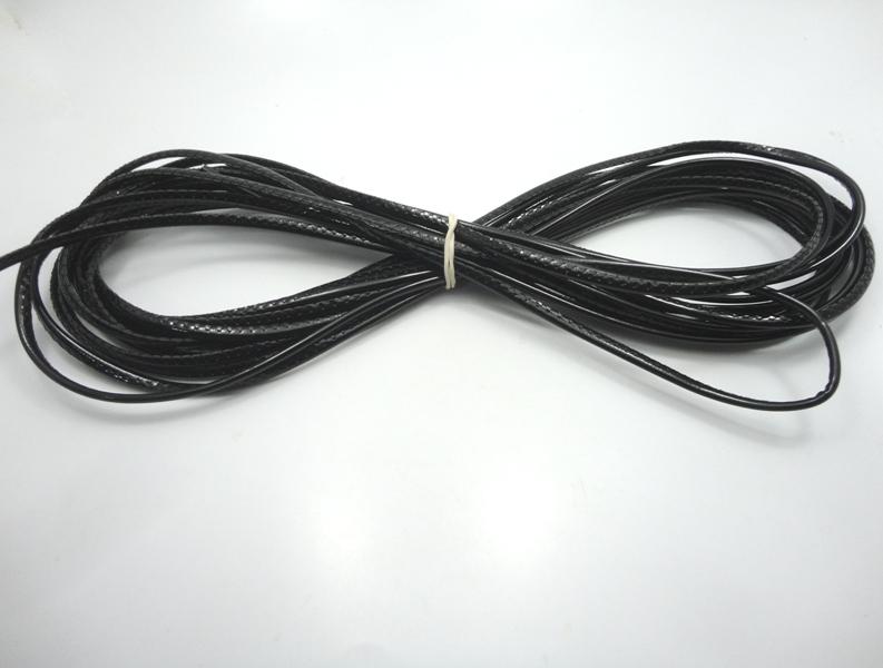 Cordão Overlock 5 mm Preto Verniz
