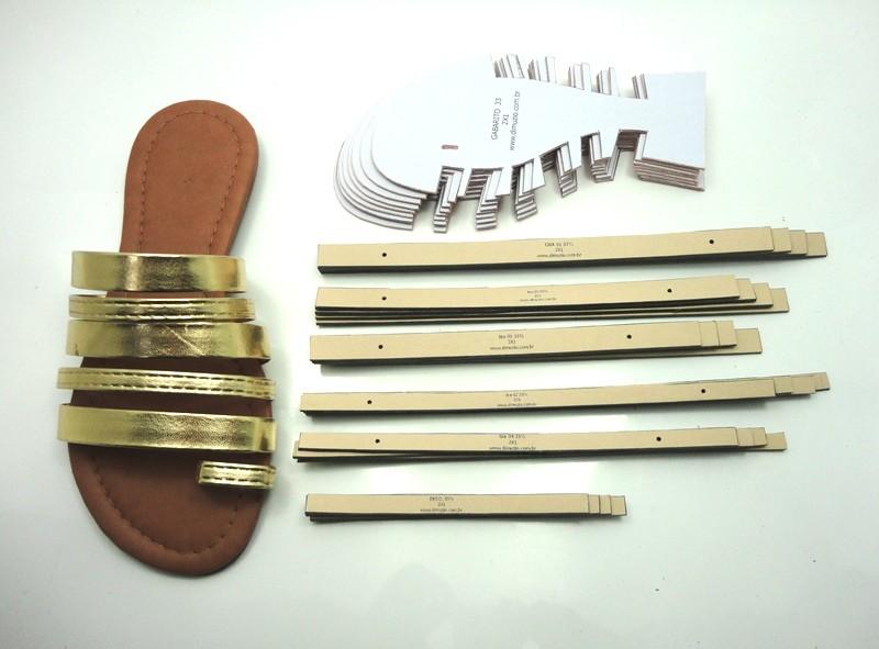Jogo de escala para rasteirinhas c/ gabarito - 5 Tiras