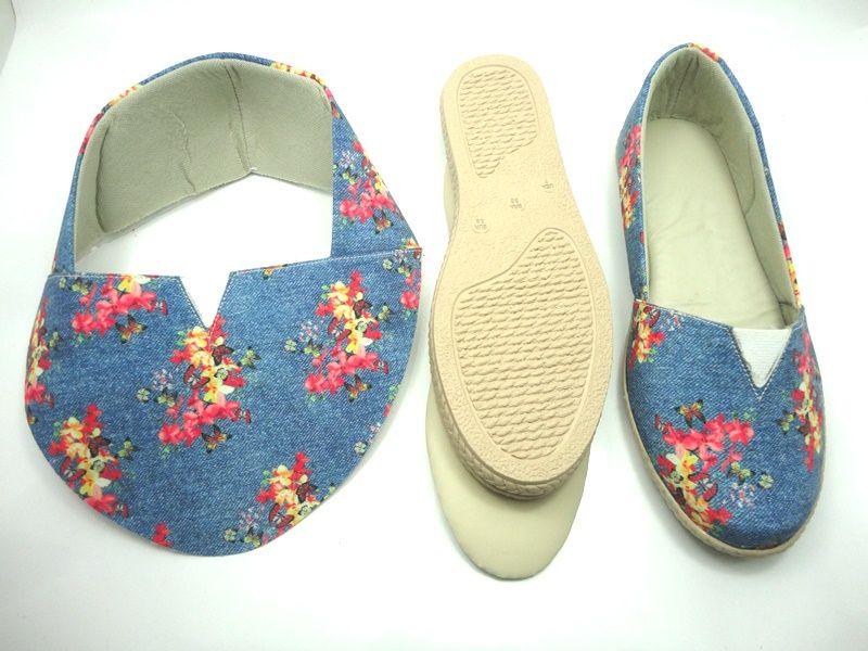 Kit para fabricação de alpargatas - Jeans Floral