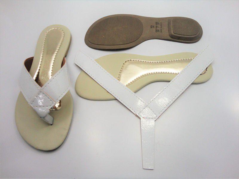 Kit para fabricação de rasteirinhas - Cabedal dedo Branco