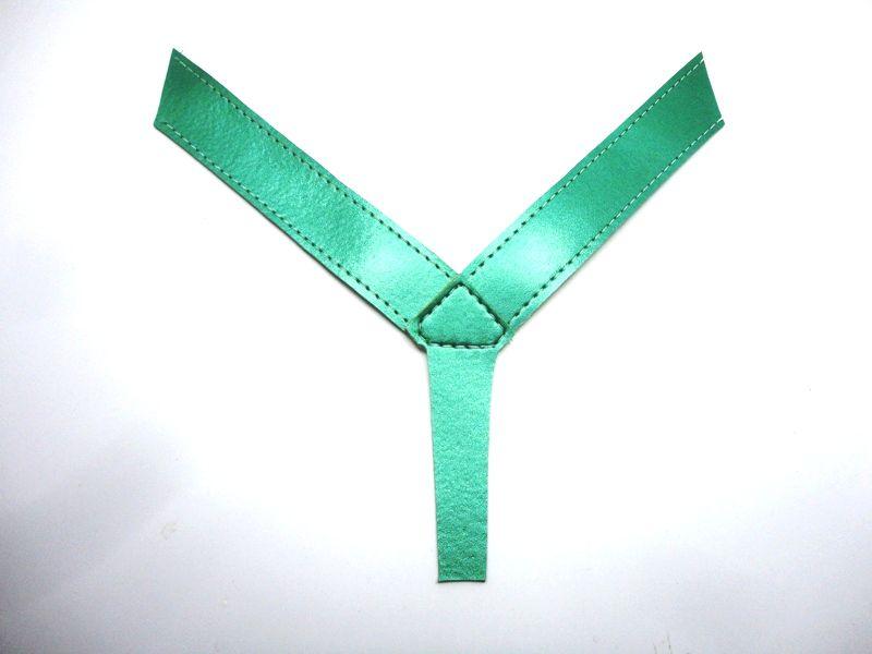 Kit para fabricação de rasteirinhas - Cabedal dedo metalizado verde