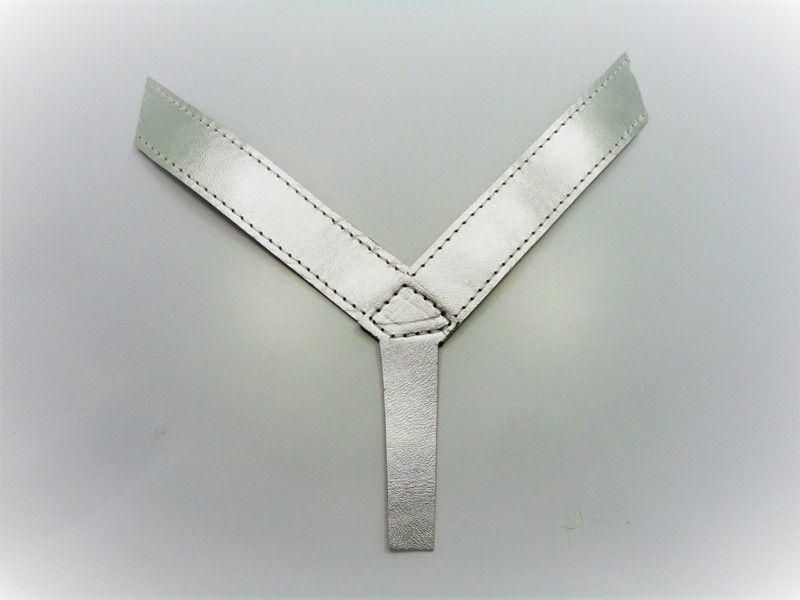 Kit para fabricação de rasteirinhas - Cabedal dedo Prata