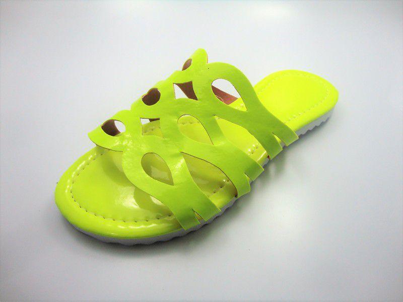 e6cd2b59d5 ... Kit para fabricação de rasteirinhas - Cabedal Fluorescente Amarelo ...