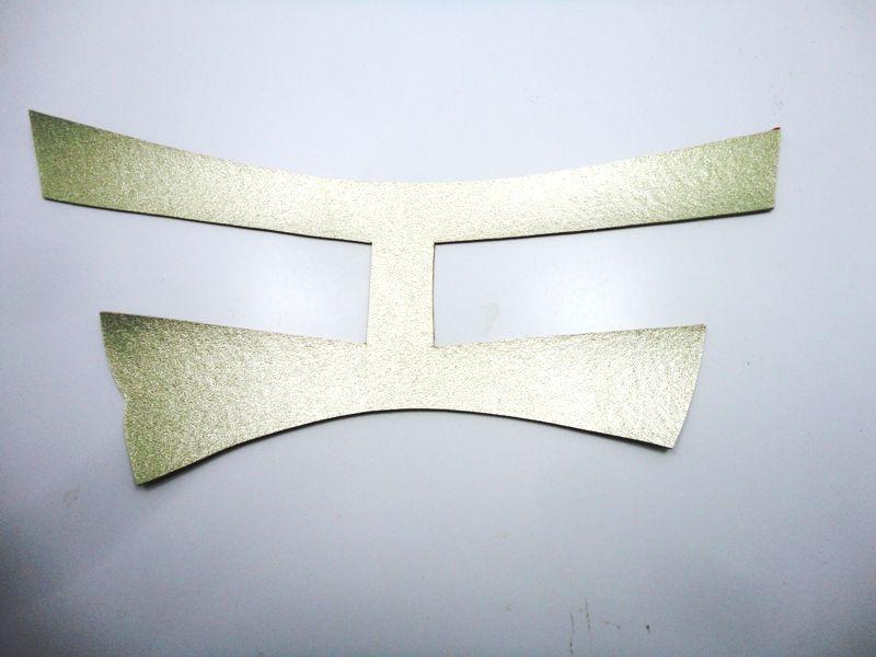 Kit para fabricação de rasteirinhas - Cabedal H Metalizado Dourado