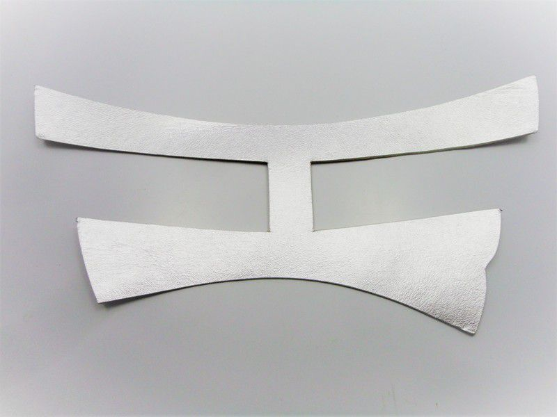 Kit para fabricação de rasteirinhas - Cabedal H Prata
