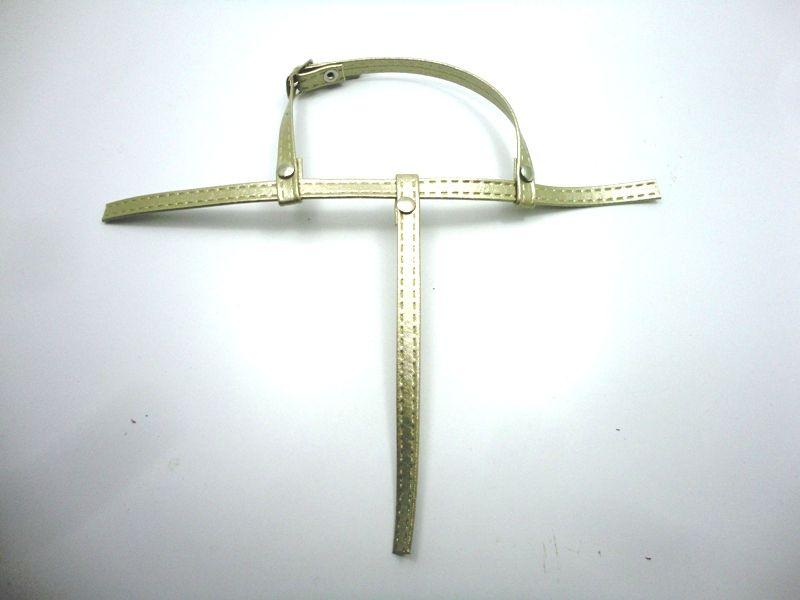 Kit para fabricação de rasteirinhas - Cabedal Tiras 9 mm - Metalizado Dourado