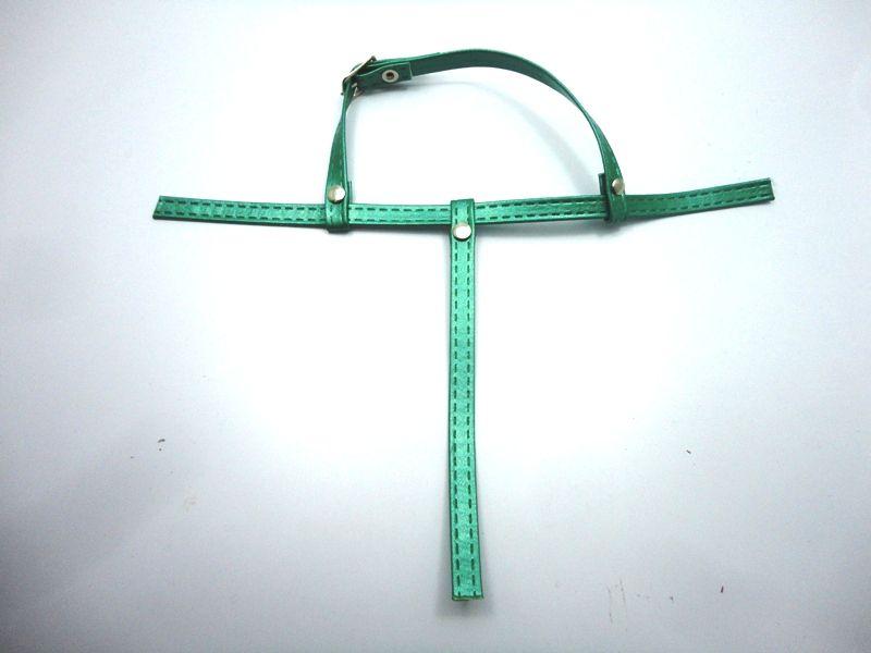 Kit para fabricação de rasteirinhas - Cabedal Tiras 9 mm - Metalizado Verde