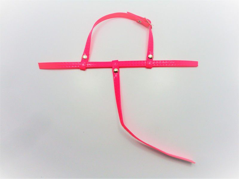 Kit para fabricação de rasteirinhas - Cabedal Tiras 9 mm - Fluorescente Pink