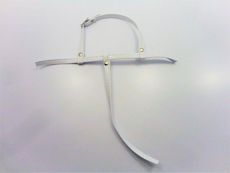 Kit para fabricação de rasteirinhas - Cabedal Tiras 9 mm - Verniz Branco