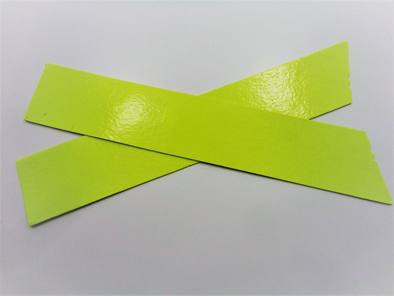 Kit para fabricação de rasteirinhas - X Fluorescente Amarelo