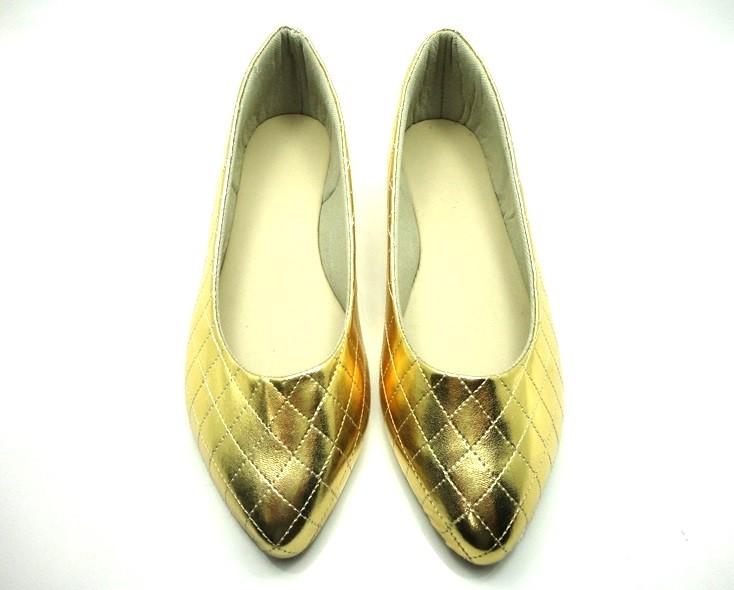 Kit para fabricação de sapatilhas bico fino - Matelassê ouro