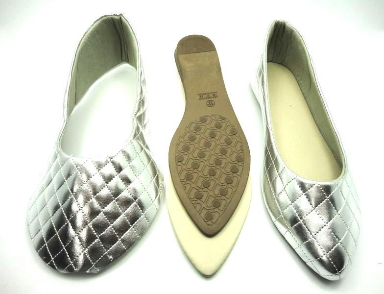 933ca58fe Kit para fabricação de sapatilhas bico fino - Matelassê prata - Di ...