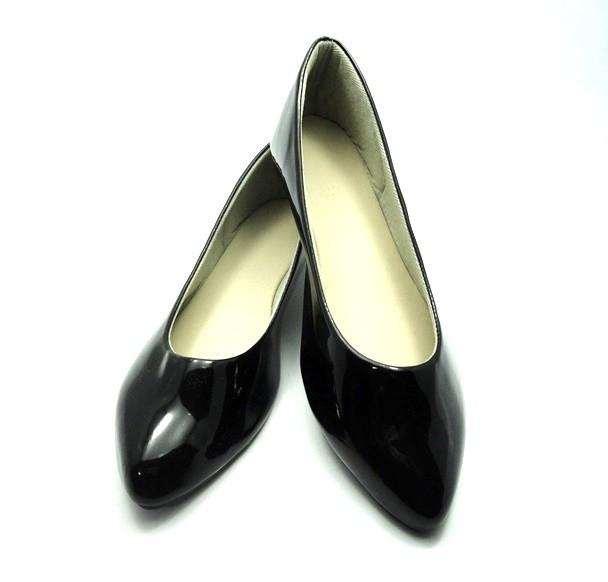 Kit para fabricação de sapatilhas bico fino - Verniz preto