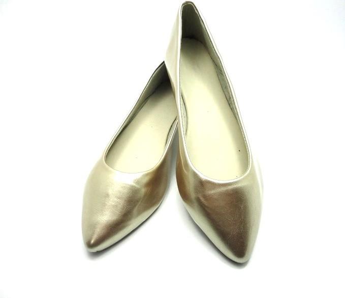 Kit para fabricação de sapatilhas bico fino - Verniz ouro