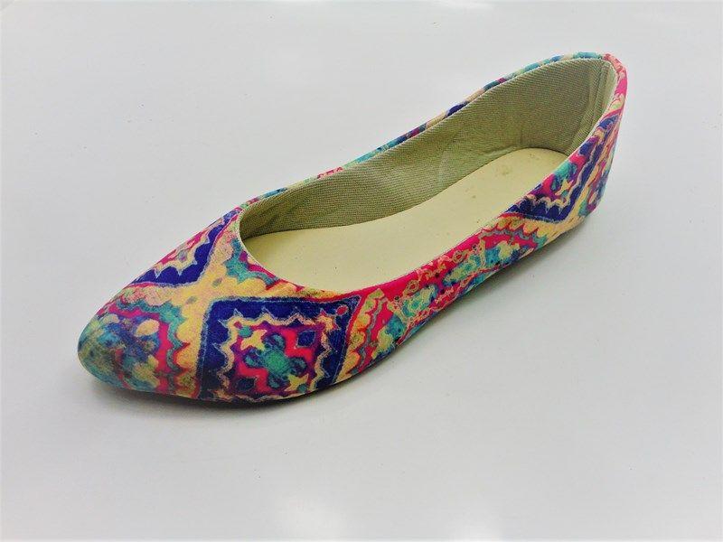 Kit para fabricação de sapatilhas bico fino - Tecido Lozango