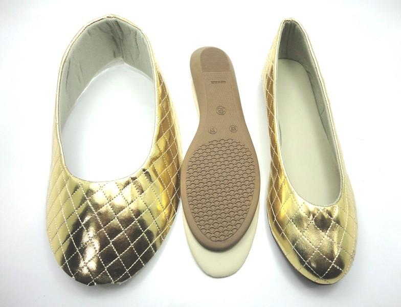 Kit para fabricação de sapatilhas bico redondo - Matelassê Ouro