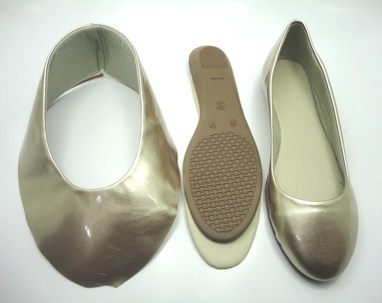 Kit para fabricação de sapatilhas bico redondo - Verniz ouro