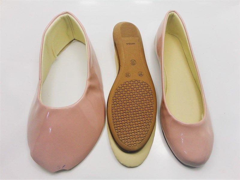 Kit para fabricação de sapatilhas bico redondo - Verniz Nude