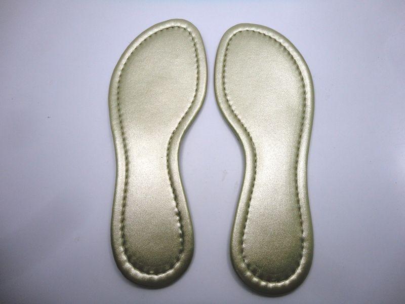 Palmilha c/ Espuma Metalizado Dourado Costurada