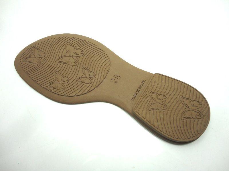 Solado Rasteirinha Infantil - PVC Bege - Ref. 900