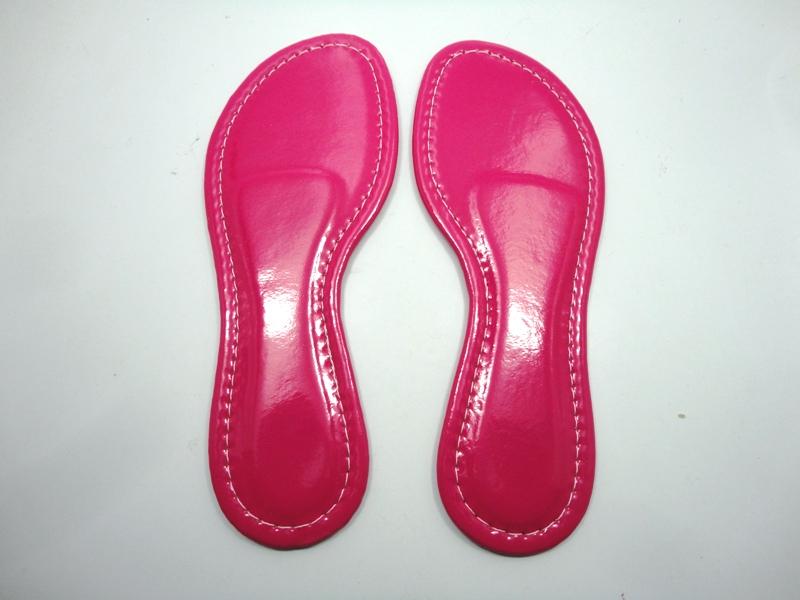 Solado Rasteirinha PVC Bege Ref. 1002 + Palmilha Confort Rosa Shock - Grade 15 pares