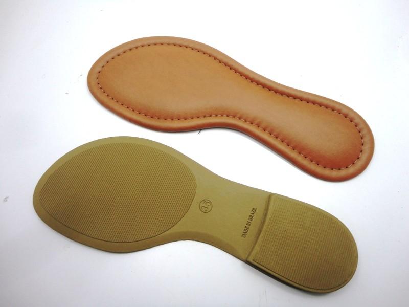 Solado Rasteirinha PVC Bege Ref. 2900 + Palmilha Costurada Caramelo - Grade 15 pares