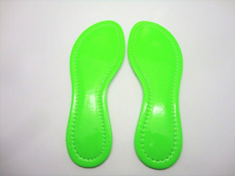 Solado Rasteirinha Tratorado + Palmilha Fluorescente Verde Costurada - Grade 15 pares