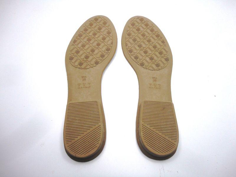 Solado Sapatilha PVC Bege Ref. 100 + Palmilha Costurada Marfim - Grade 15 pares