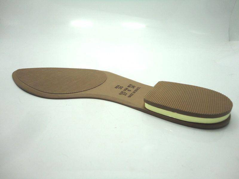 Solado Sapatilha PVC Bege Ref. 3300 + filete dourado no salto + palmilha c/viés - Grade 15 pares