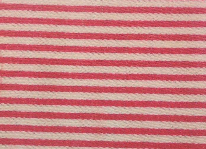 Tecido Panamá - Listrado Vermelho
