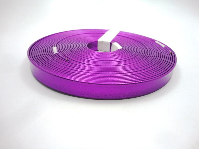 Tiras 15 mm Metalizado Roxo - Rolo 10 metros