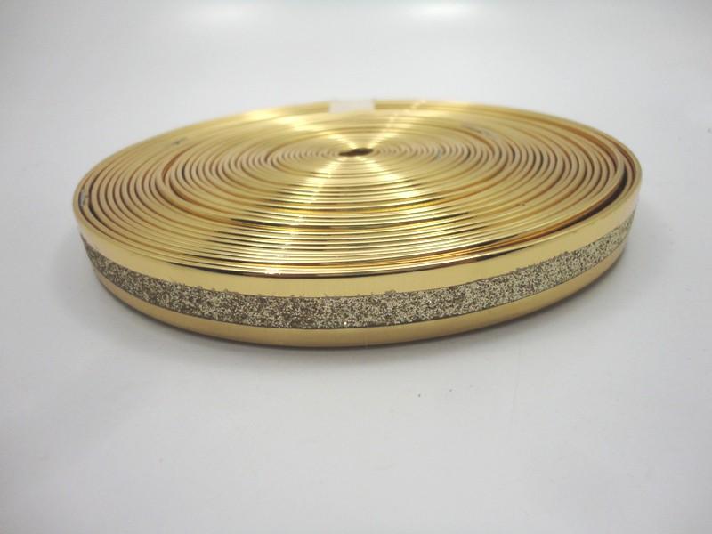 Tiras 15 mm Ouro com Glíter - Rolo 10 metros