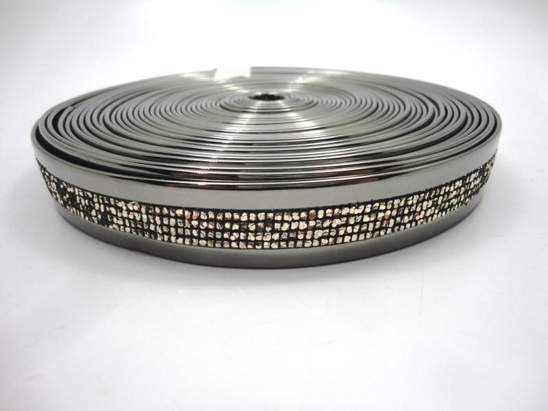 Tiras 20 mm Espelhado com Glíter - Rolo 10 metros
