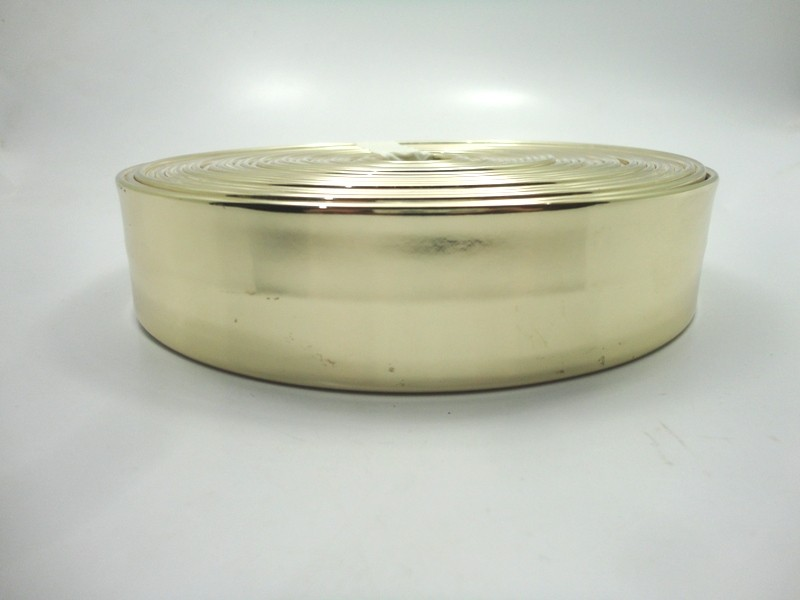 Tiras 40 mm Ouro Espelhado - Rolo 10 metros