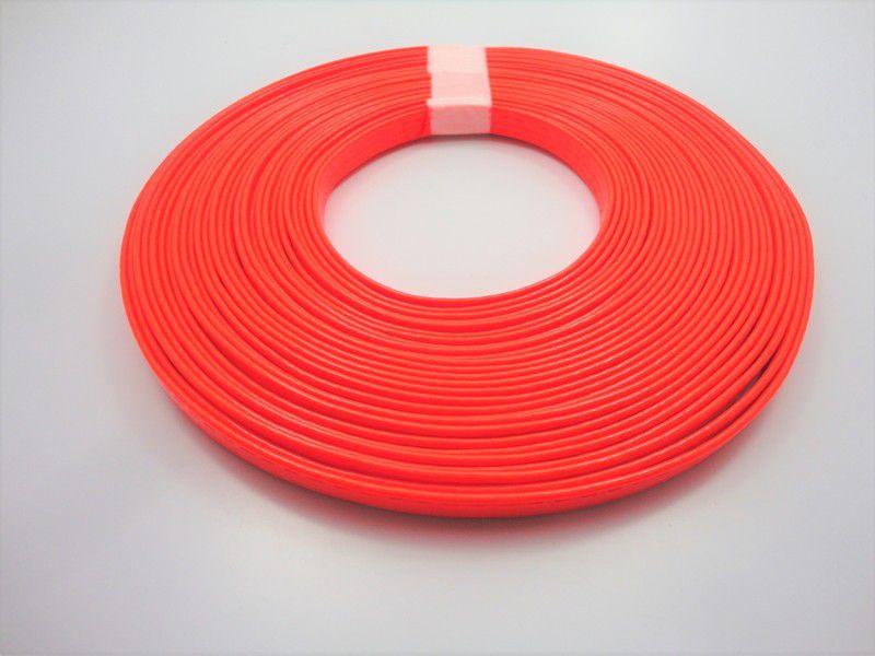 Tiras 9 mm Fluorescente Laranja - Rolo 10 metros