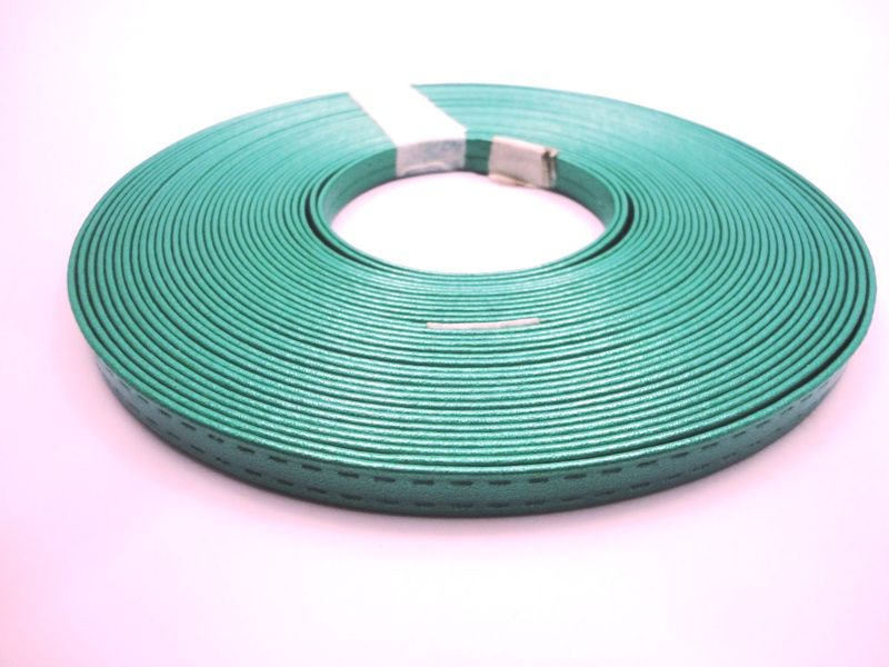 Tiras 9 mm Metalizado Verde - Rolo 10 metros