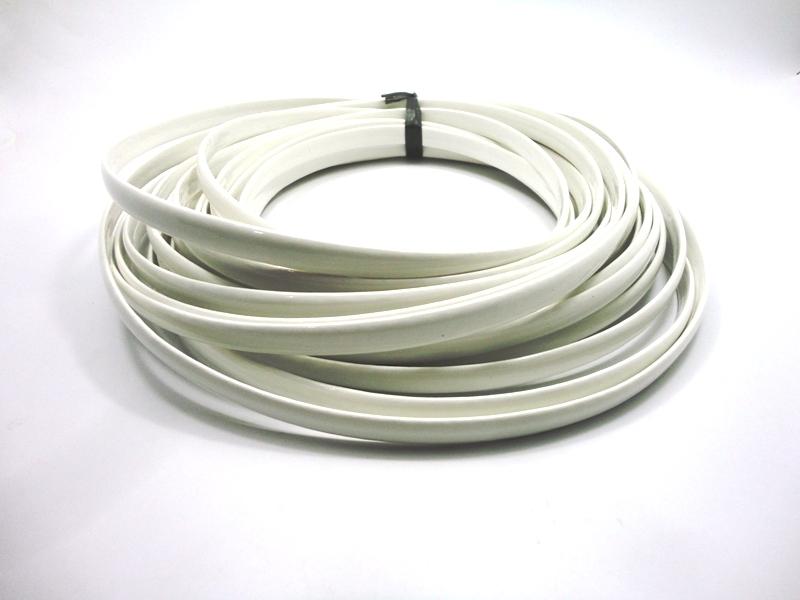 Tiras Boleadas 10 mm - Branco Verniz