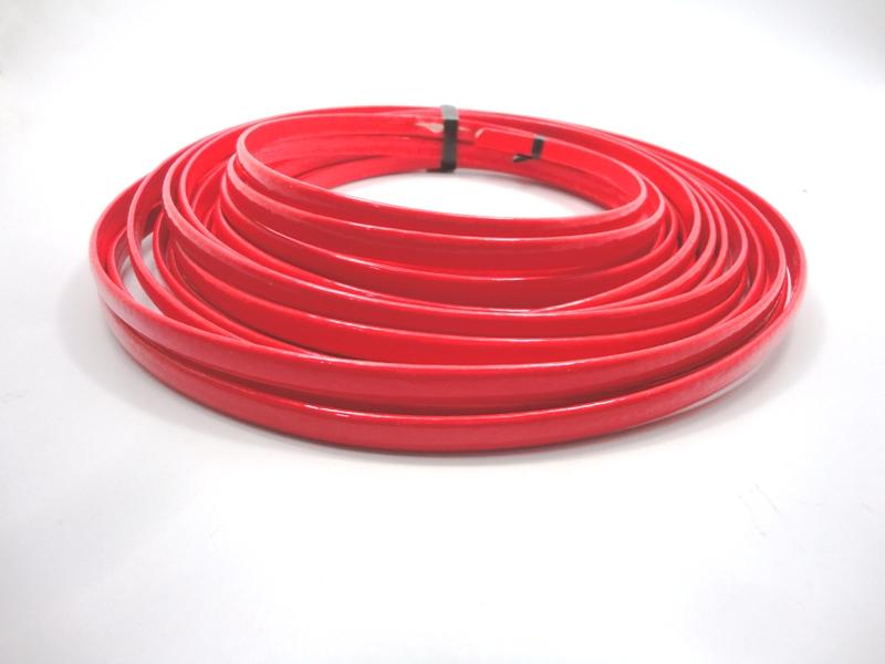 Tiras Boleadas 8 mm - Vermelho Verniz