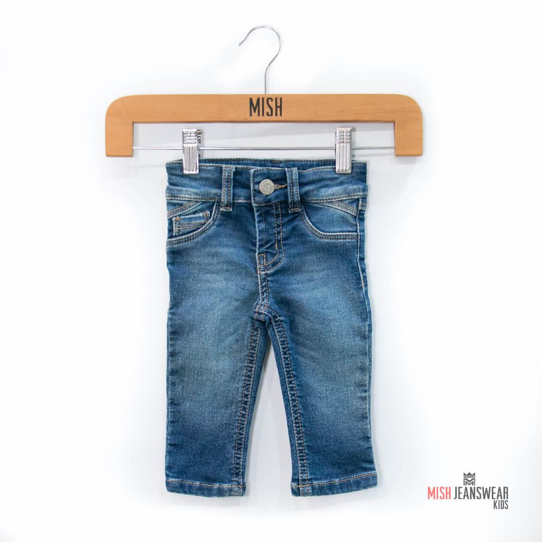 bee4b8a81 Calça jeans infantil moletom Mish bebê masculina